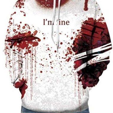 Scary Skeleton Blood 3D Print Hoodie Sweatshirt Top