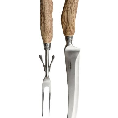 Antler Themed 2-Piece Big Game Carving Set