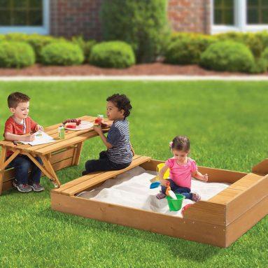 The Transforming Sandbox Picnic Table