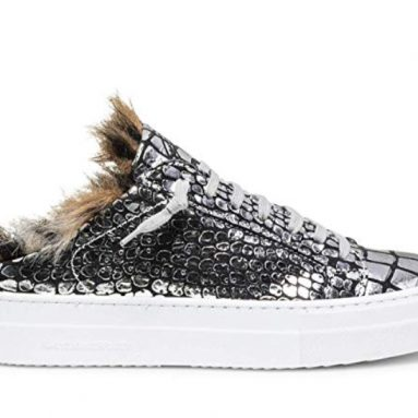 Women's Clara Italian Leather Fur Sneaker