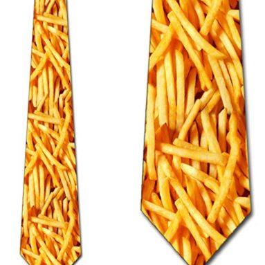 Mens Fries Necktie Food Tie