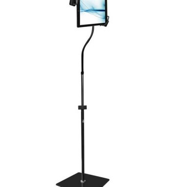 Floor Stand Holder with Adjustable/Bendable Swivel Gooseneck and Sturdy Base