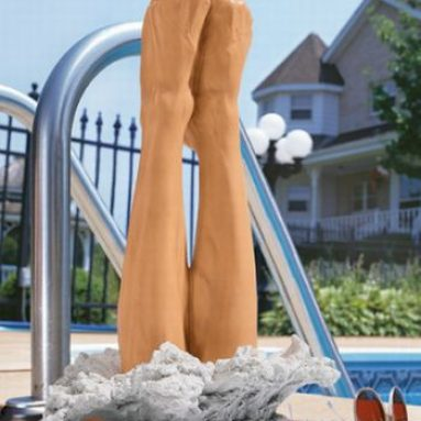 The Big Splash Divers Pool Statue