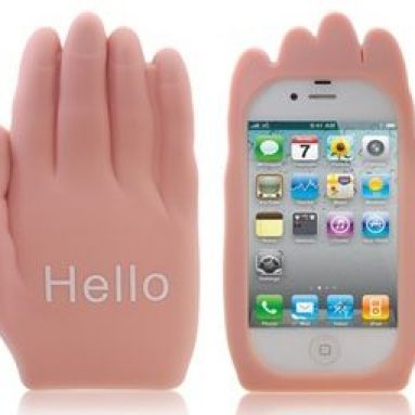 Hello Palm Shaped Silicone Case for iphone 4/ 4S