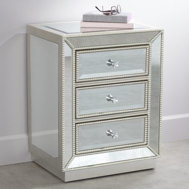 Coast to Coast Trevi 20″ Wide 3-Drawer Mirrored Accent Table