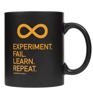 """Coffee Mug """"Experiment. Fail. Learn. Repeat."""""""