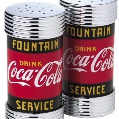 Coke Fountain Service Plastic Salt and Pepper Shaker