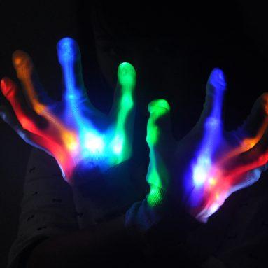 Color Changing LED Gloves