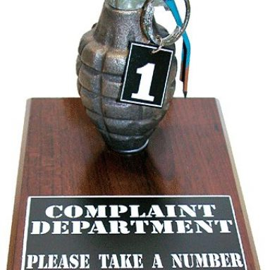 """Complaint Department Grenade, """"Take A Number"""""""