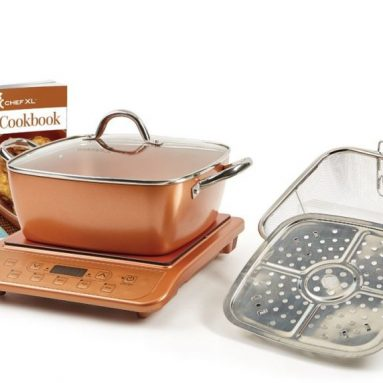 Copper Chef XL 11 Casserole 5 pc Set & Induction Cooktop