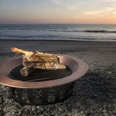 Copper Fire Pit Bowl Wood Burning Grill
