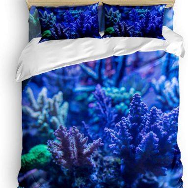 Coral Reef Underwater Ocean 3D Print Floral Duvet Cover Set