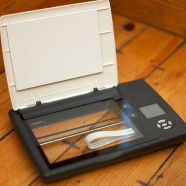 Cordless Flatbed Photo Notebook Scanner Removable Lid