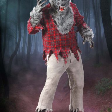 Deluxe Cosplay Costume w/ Wolf Mask & Hands
