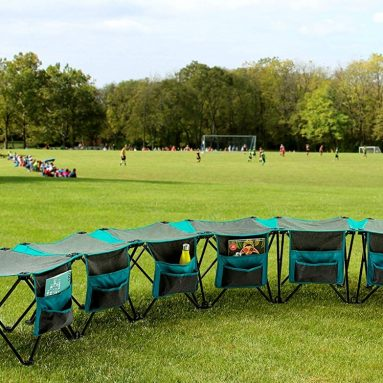 Creative Outdoor Curved Collapsible Folding 6-Person Bench Seat