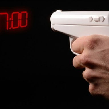 Creative Pistol Projection Wall Clock