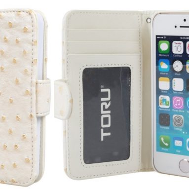 Credit Card Wallet Case with Stand for iPhone 5 / 5S