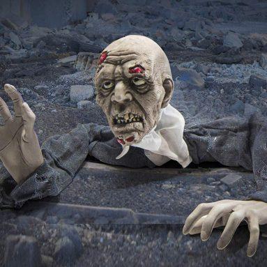 Creepy Looking Halloween Groundbreaker Zombie