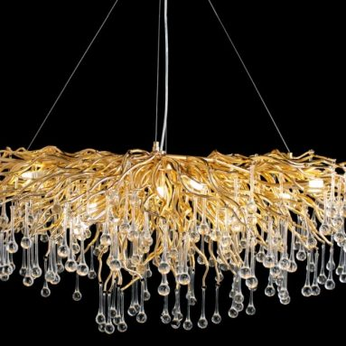 Crystal Chandelier Rectangle Pendant Light