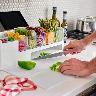 Cutting Board with Prep Containers