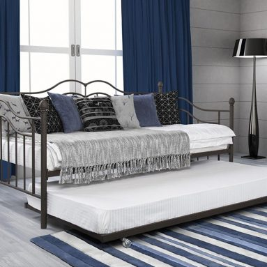 DHP Tokyo Twin Size Daybed and Trundle with Metal Frame