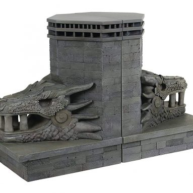 Dark Horse Deluxe Game of Thrones: Dragonstone Gate Dragon Bookends Set