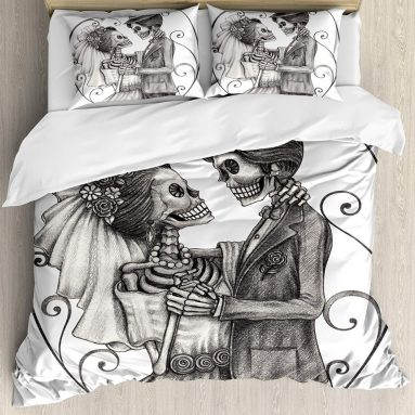 Day of The Dead Decor Duvet Cover Set