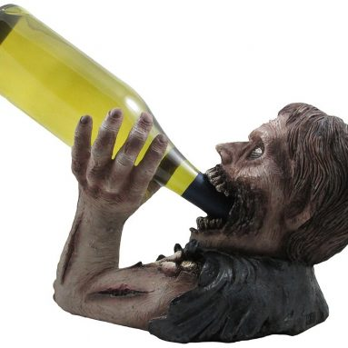 Decorative Graveyard Zombie Wine Bottle Holder Statue