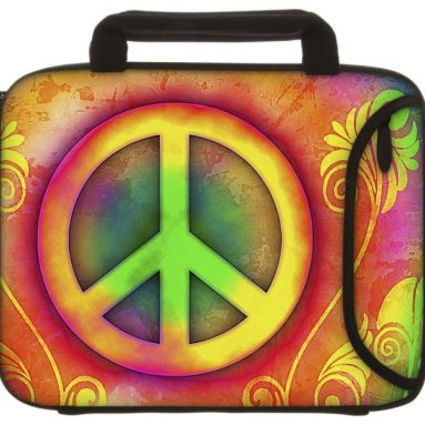 Designer Sleeves Peace Tablet Sleeve with Handles for iPad 2/3/4