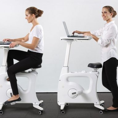 Desk Exercise Bike Home Office Standing Desk Cycle