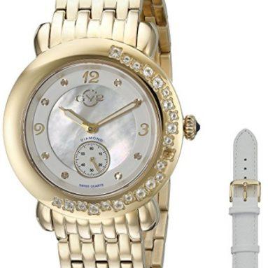 88% Discount: Diamonds Swiss Quartz Gold Tone Stainless Steel Bracelet Watch