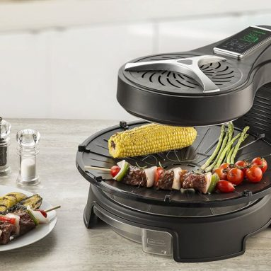 Digital Halogen Powered Rotating Grill with LCD Touch Time & Temperature Control Display