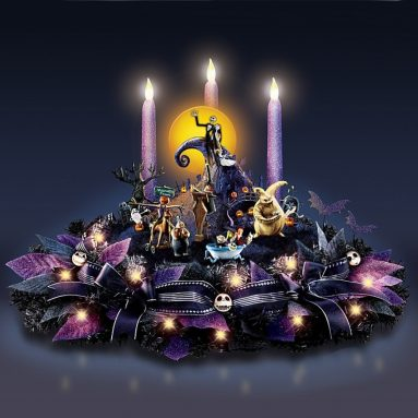 Disney Nightmare Before Christmas Floral Centerpiece with Lights and Music