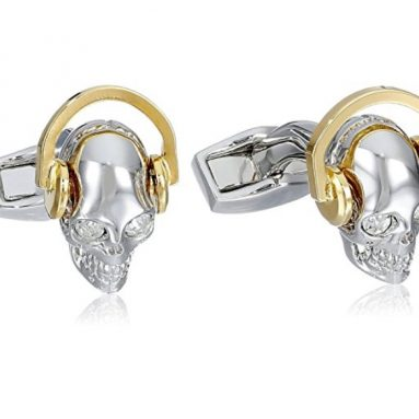 Dj Skull Earphones Cufflinks