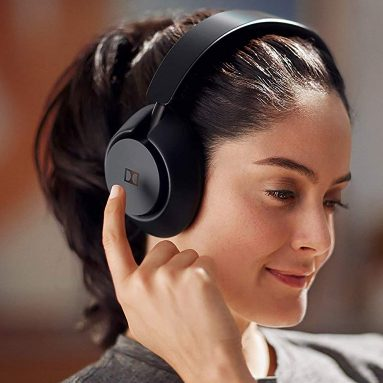 Dolby Dimension Wireless Bluetooth Over Ear Headphones with Active Noise Cancellation