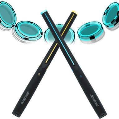 Drum Sticks Air Electronic Drum Set with Light, Bluetooth Wireless Connection Pocketdrum