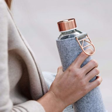 EQUA Glass Water Bottle