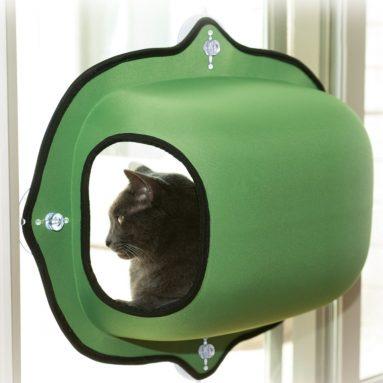 EZ Mount Window Pod Kitty Sill Green