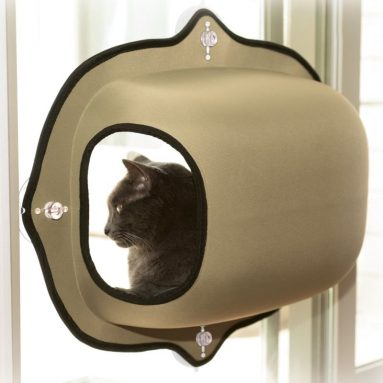 EZ Mount Window Pod Kitty Sill Tan