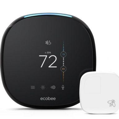 Ecobee4 Alexa-Enabled Thermostat with Sensor