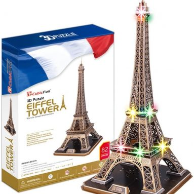Eiffel tower with LED Light 3D Puzzles