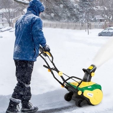 Electric 13 Amp Corded Snow Blower with Wheels