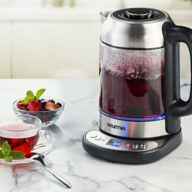 Electric Glass Tea Kettle With Built In Precise Steeping Tea Infuser