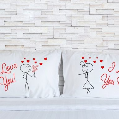 Embroidered Pillowcases for Couples