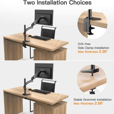 ErGear Monitor Mount for 15-32″ Flat/Curved Monitors