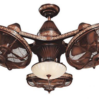 Esquire Rich Bronze Finish 3-Head Ceiling Fan