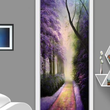 European Style Purple Forest Photo Mural Wallpaper