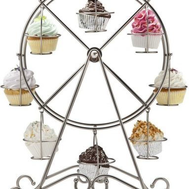 FERRIS WHEEL CUPCAKE HOLDER SHINY HOLDS 8 CUPCAKES