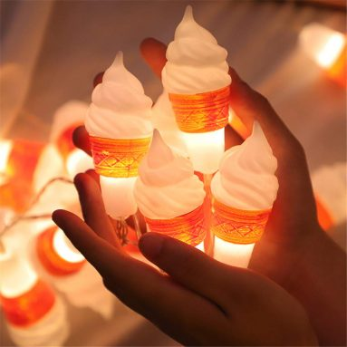 Fairy Ice Cream Lanterns Battery Operated String Light