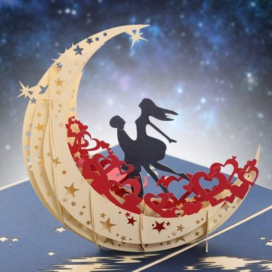 Fairy Moon Handmade Pop Up Greeting Card